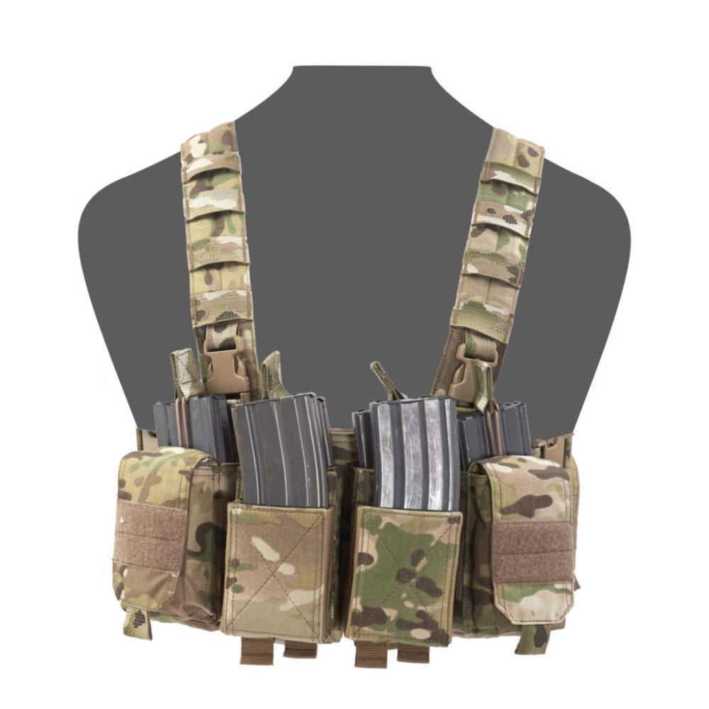 OAREA Gilet Tactique /à la Poitrine Rig Assault 500D Molle Multicam Gilet Tactique /à Poches Multiples